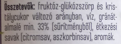 Gránátalmás szörp - Ingredients - hu