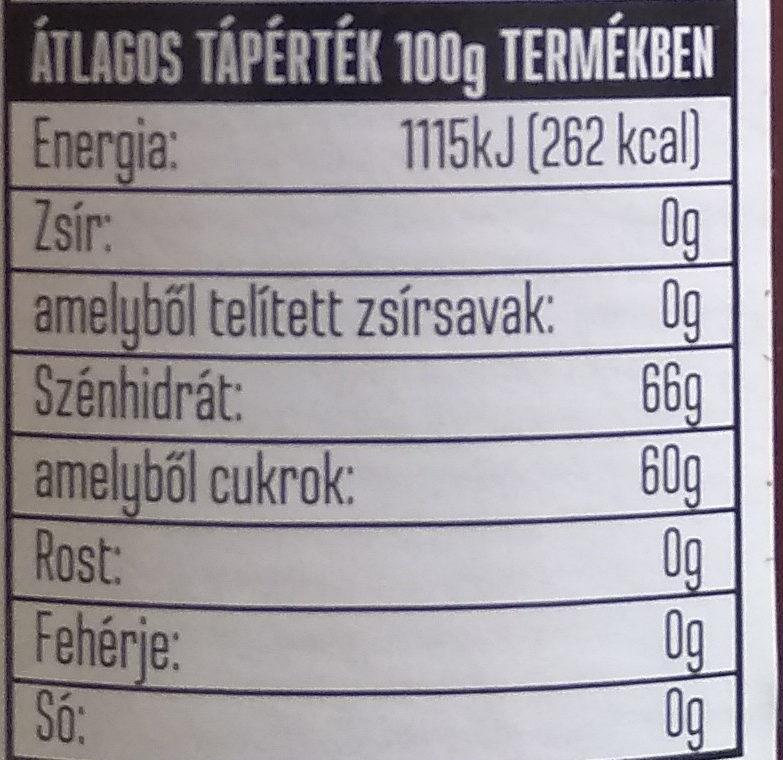 Gránátalmás szörp - Nutrition facts - hu