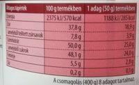 Mogyorós krém Classic - Informations nutritionnelles