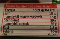 Spar Rudi - Informations nutritionnelles - hu