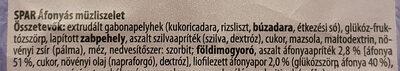 Áfonyás müzliszelet - Ingredients