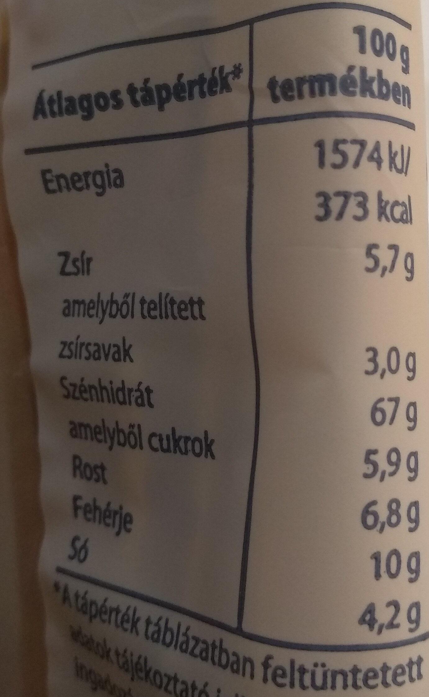 Sós pálcika - Informations nutritionnelles - hu