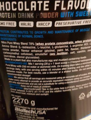 Nitro Pure Whey - Ingrédients