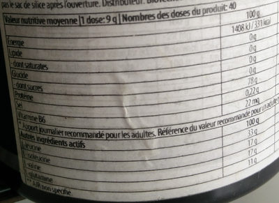 BCAA - Informations nutritionnelles - fr