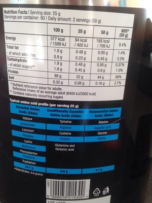 Protein drink - Informations nutritionnelles - fr