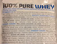 100% pure Whey - Ingrédients - fr