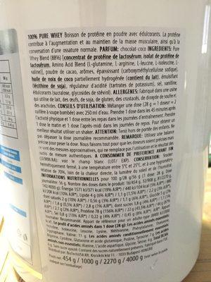 100% Pure Whey - Ingrédients
