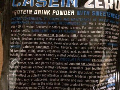 Casein zero - Ingredients - fr