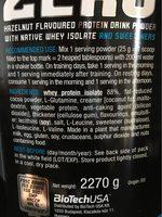 Isolate whey protein - Ingredienti - fr