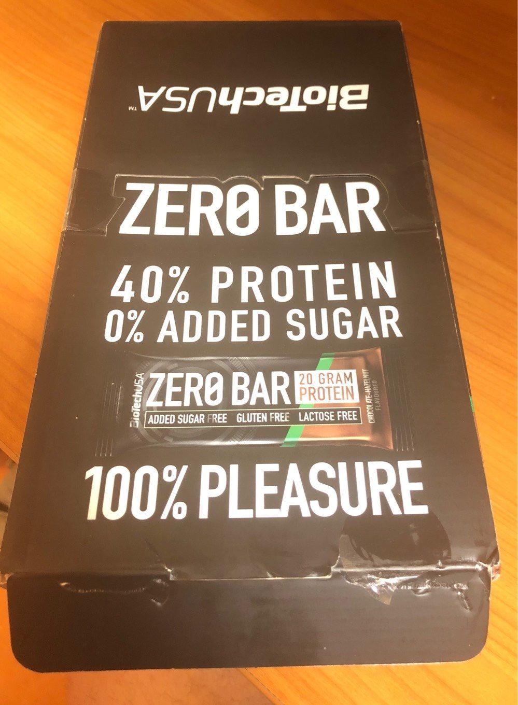 barre chocolat noisette zero bar - Producto - fr