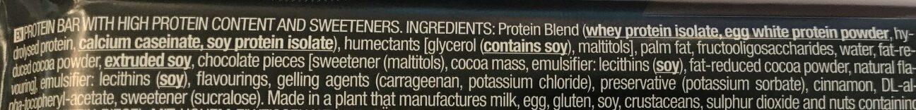 Zero bar double chocolat - Ingredients - en