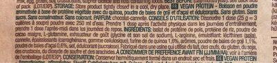 Protéine vegan - Ingrédients - fr