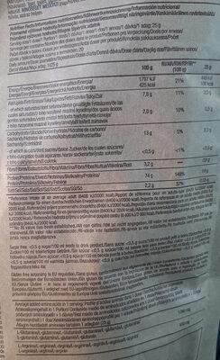 Protéine vegan - Informations nutritionnelles - fr