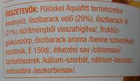 Rostos őszibarack gyümölcsital - Ingredienti - hu