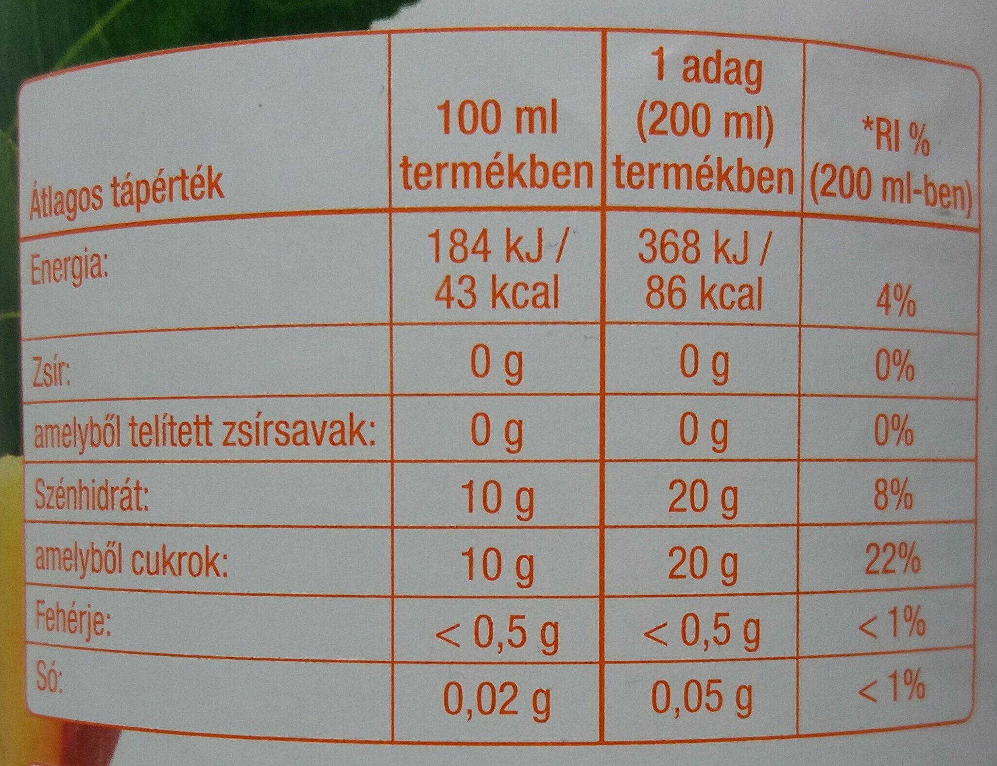 Rostos őszibarack gyümölcsital - Valori nutrizionali - hu