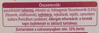 Camembert fokhagymas - Ingredients