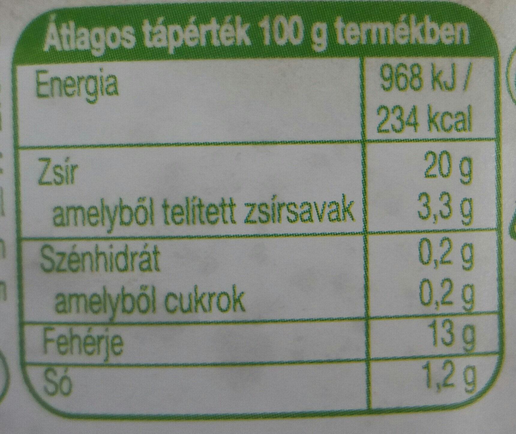 Sprotni növényi olajban - Informations nutritionnelles - hu