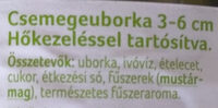 Csemegeuborka - Ingredients