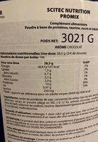 Pro mix - Voedingswaarden - fr