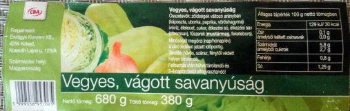 Vegyes, vágott savanyúság - Produit - hu