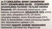 Pálinkás étcsokoládé, szilva - Ingrédients - hu
