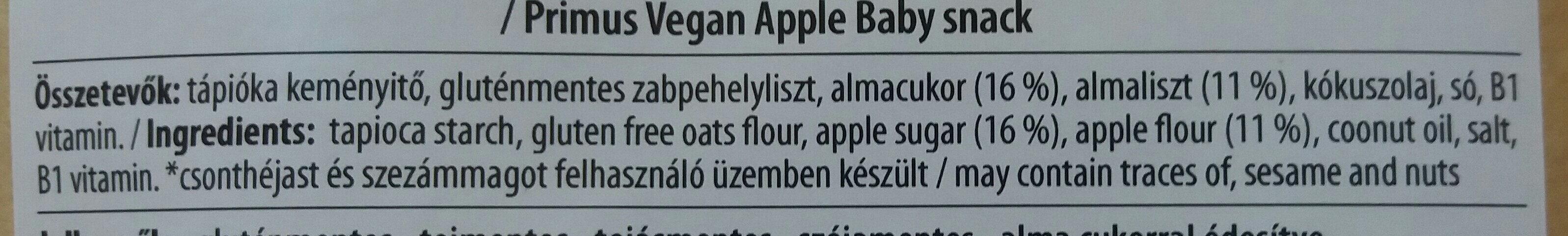 Almás babakeksz - Ingredients - hu