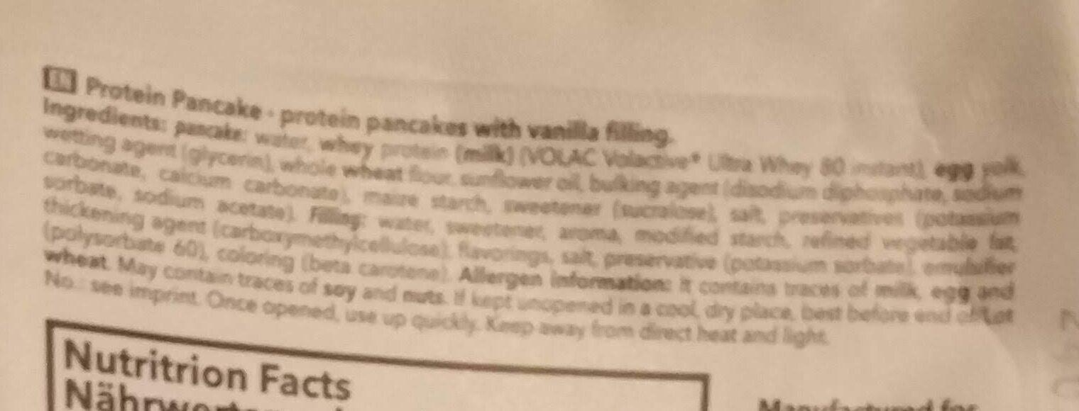 Pancake protein - Ingrediënten - en