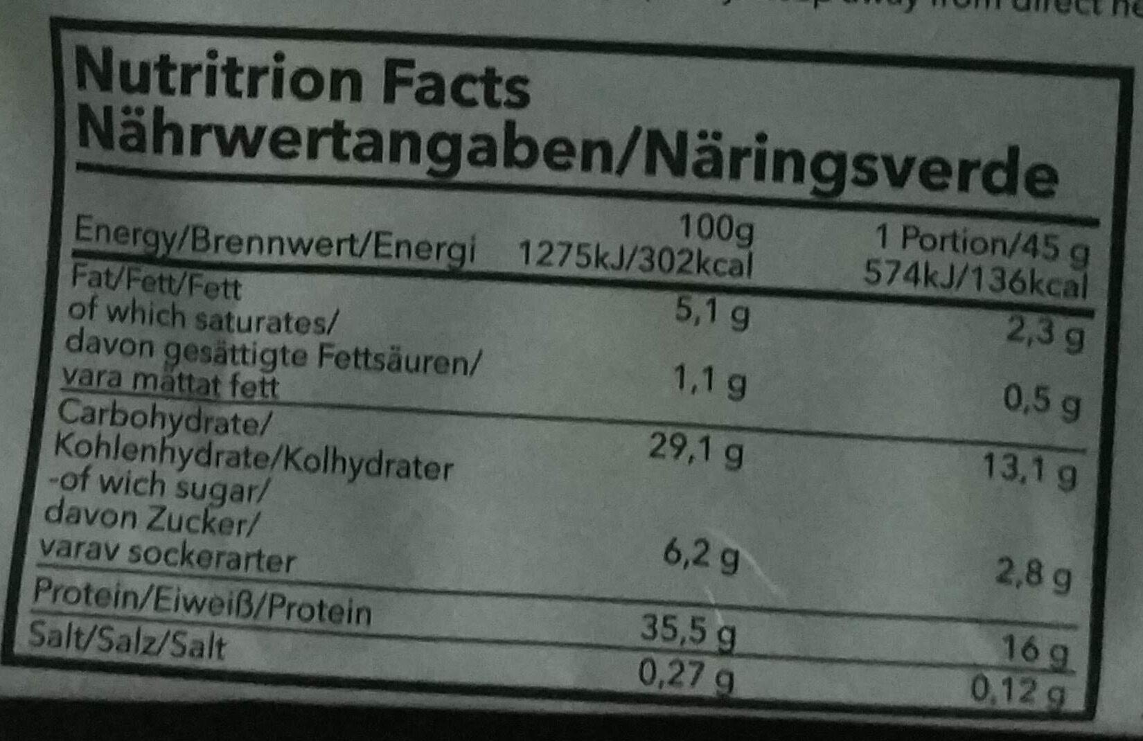 Pancake protein - Voedingswaarden - en
