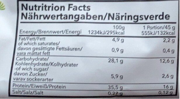 Protein Pancacke - Nutrition facts - fr