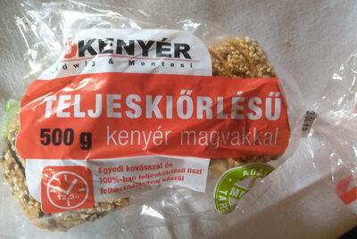 Teljes kiőrlésű kenyér magvakkal - Produit