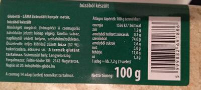 extrudált kenyér - natúr - Informations nutritionnelles - hu