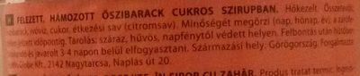 Őszibarack - Ingrédients - hu