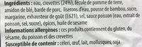 Ha Kao - Raviolis crevettes vapeur - Ingredients - fr