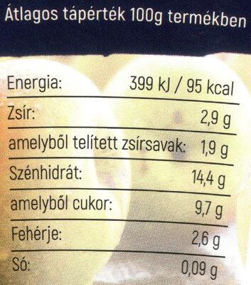 Tejmanufaktúra Nature körtés - karamellás joghurt - Valori nutrizionali - hu