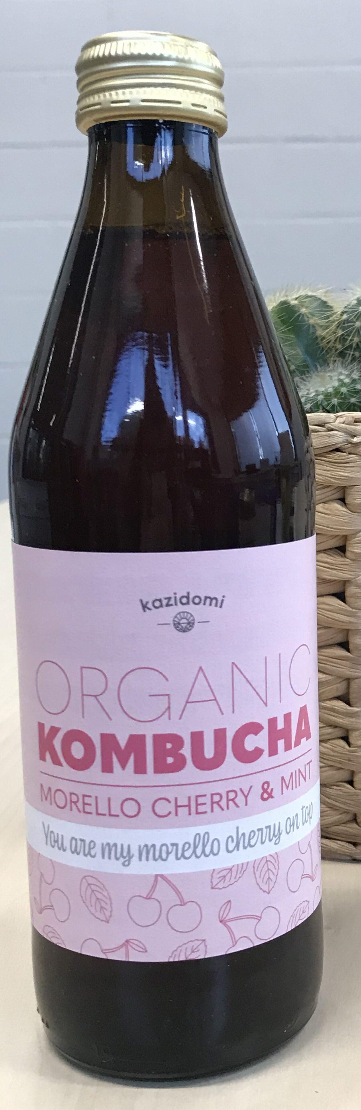 Kombucha Griottes & Menthe Bio Kazidomi - Produit - fr
