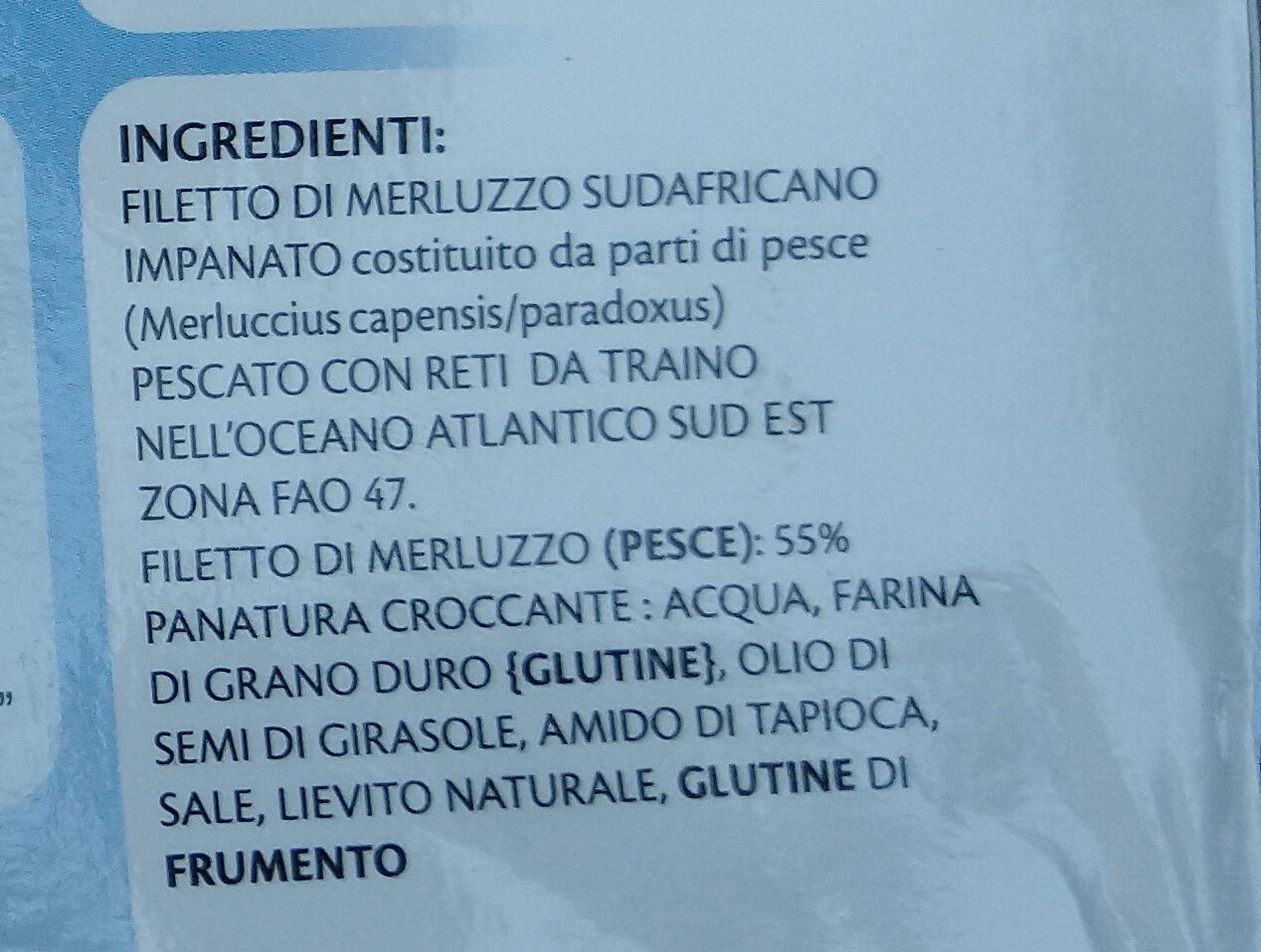 filetti croccanti di merluzzo sudafricano - Ingredienti - it