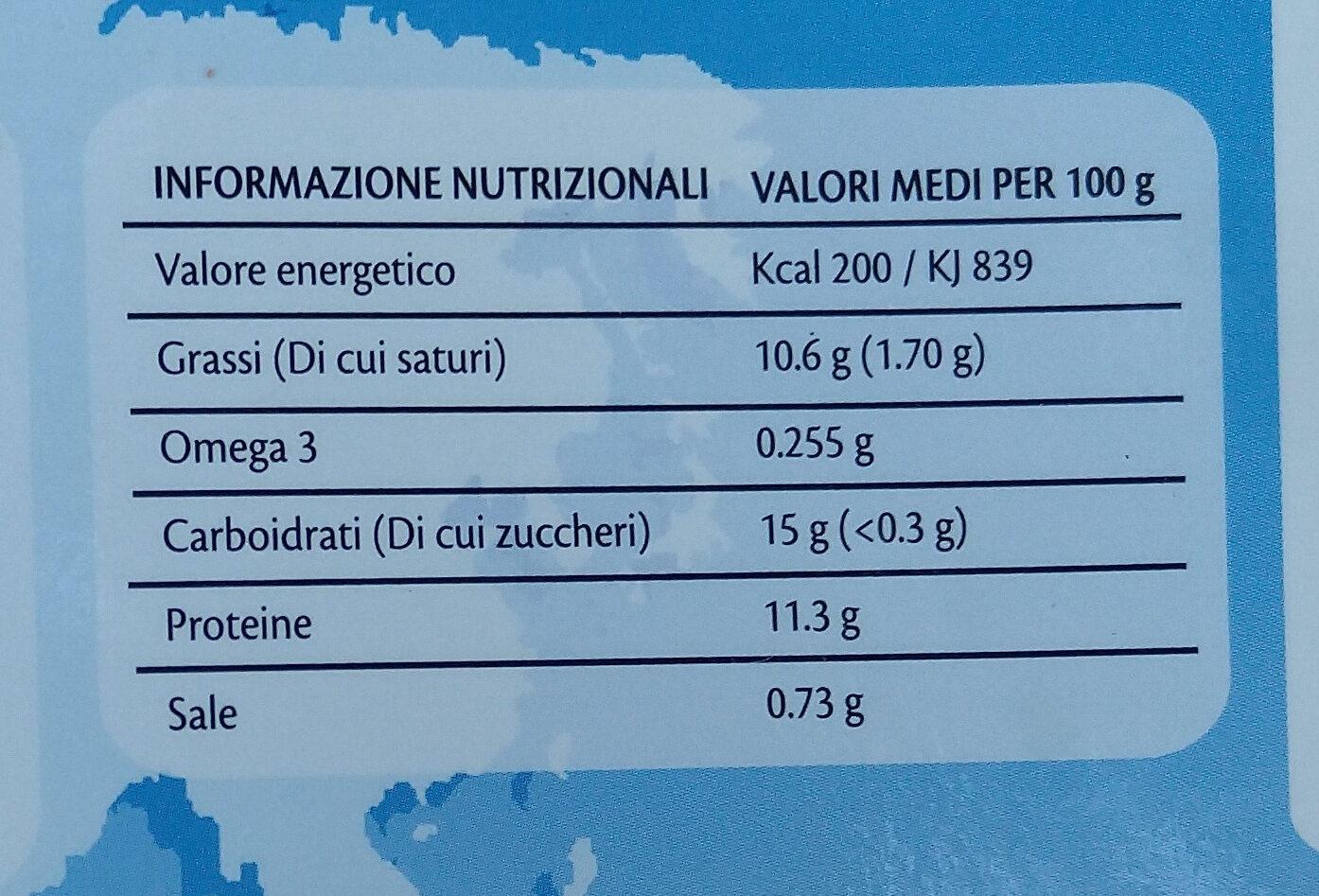 filetti croccanti di merluzzo sudafricano - Informazioni nutrizionali - it