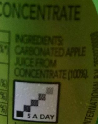 Appletiser 275ml - Ingredients