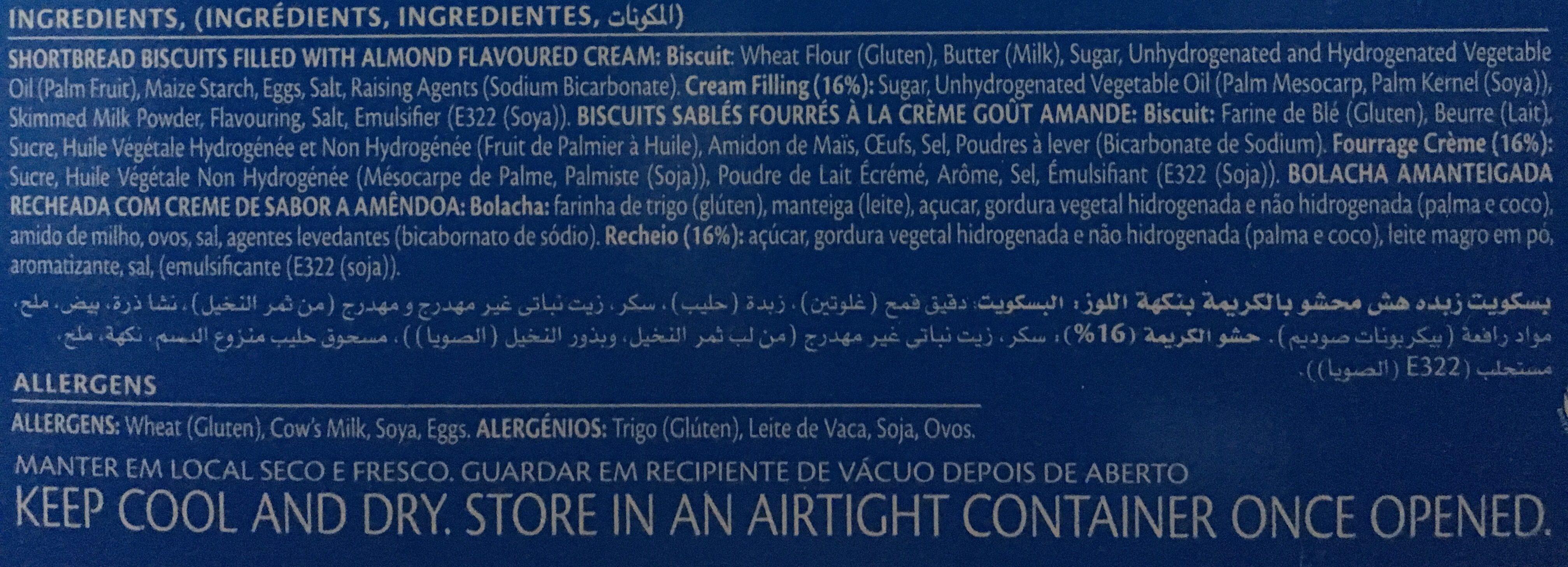 Bakers Royal Creams - Ingrédients - fr