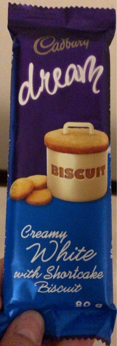 Creamy white with shortcake biscuit - Produit - fr