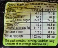 Bar One - Nutrition facts - fr