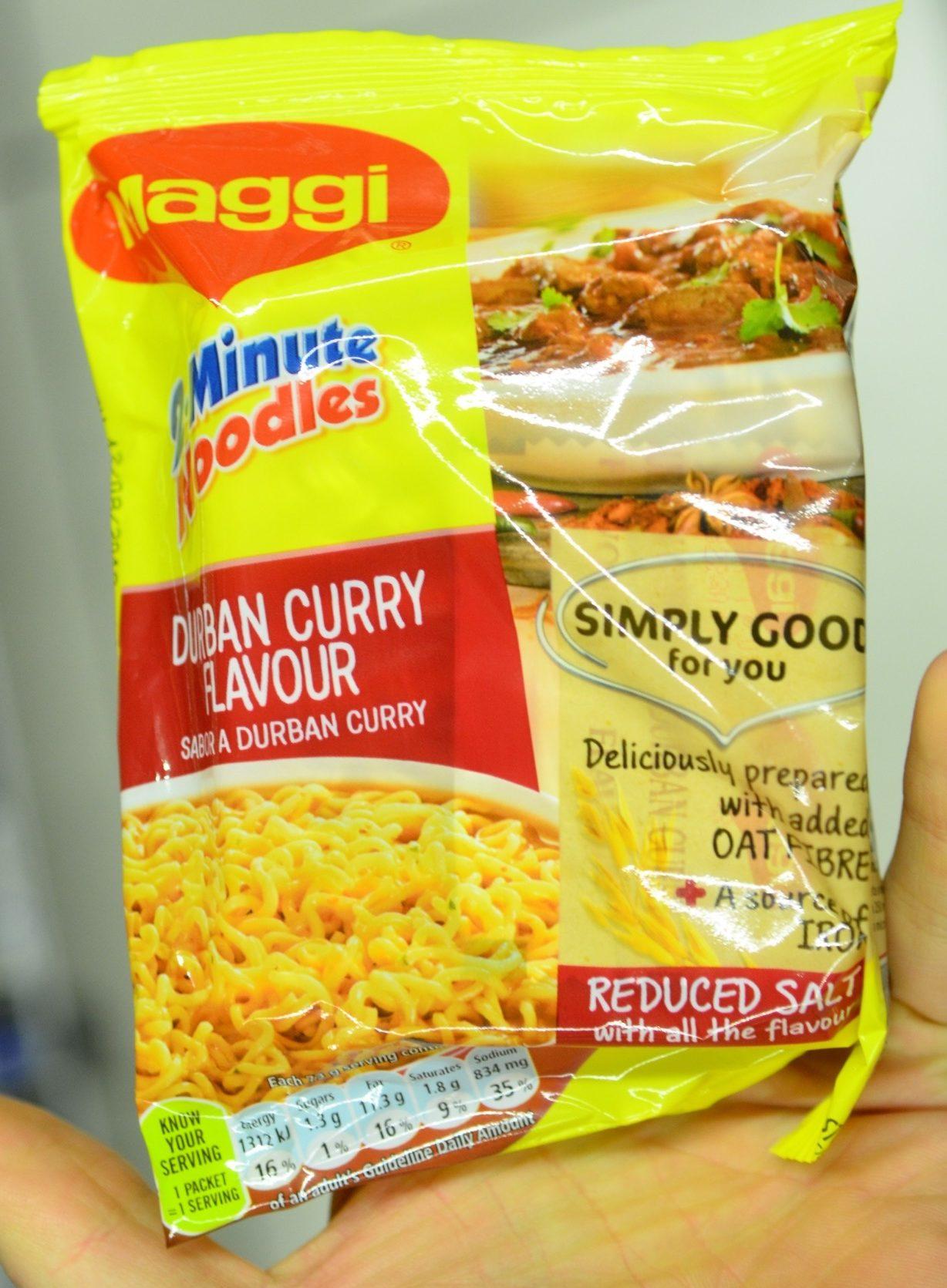 2 Minutes Noodles Durban Curry Flavour - Product