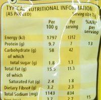 2 Minutes Noodles Durban Curry Flavour - Nutrition facts