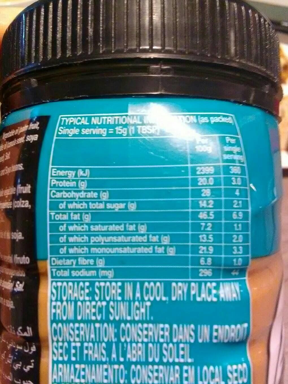 Yum Yum Peanut Butter Ultra Creamy 1 x 400G (Single) - Informations nutritionnelles