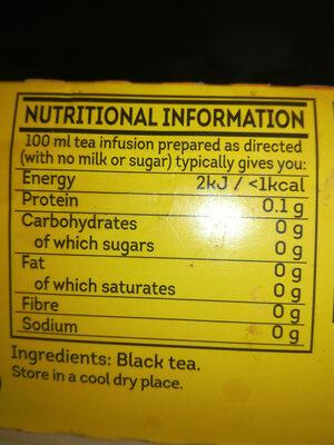 Yellow label tea - Ingrédients - fr