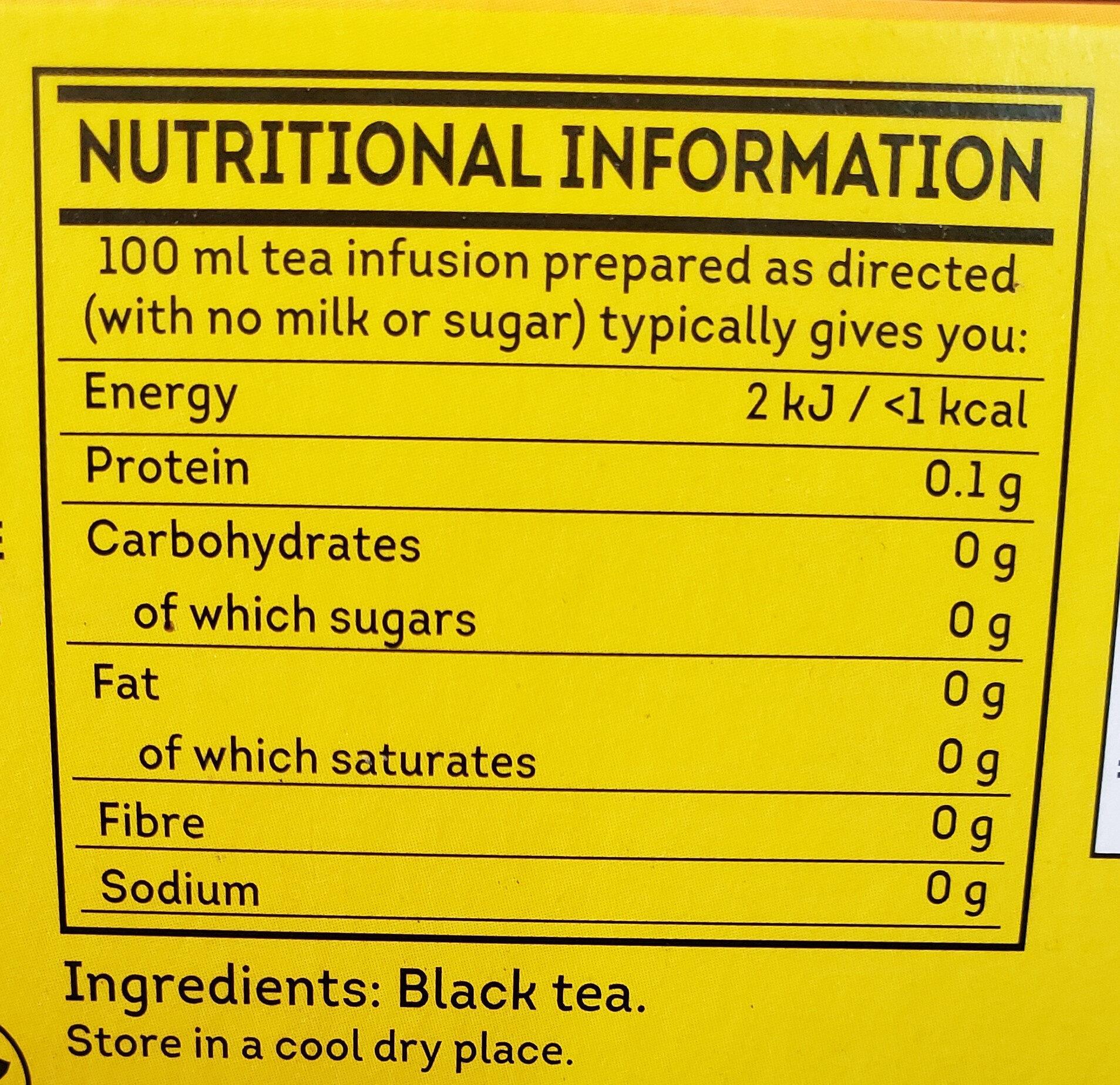 Yellow label tea - Informations nutritionnelles - fr