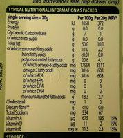 FLORA margarine - Informations nutritionnelles