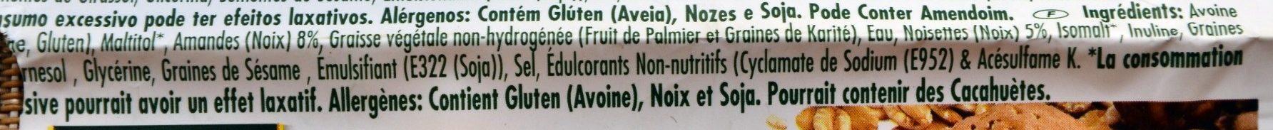 Nuts Energy Bar Lite - Ingredients - fr