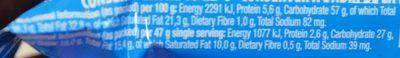 Beacon White TV Bar 1 Ea - Informations nutritionnelles - fr