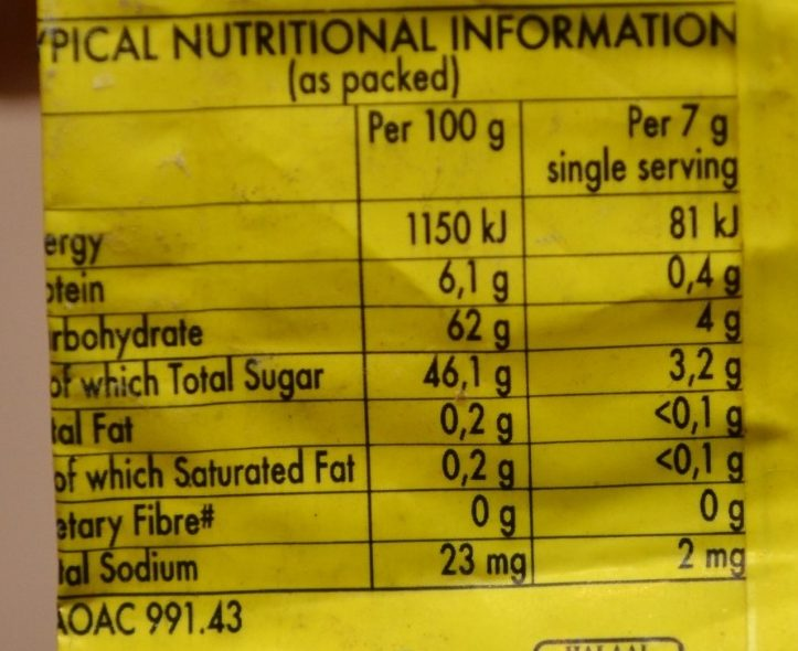 Jelly Jerseys - Informations nutritionnelles - fr